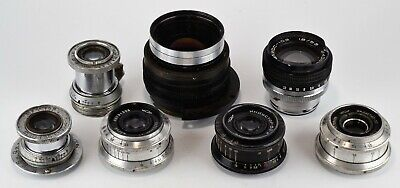 FOR PARTS! SET OF 7 RUSSIAN USSR INDUSTAR lenses