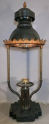 1899 LG Antique VICTORIAN TOWN Old AMERICAN Salvaged GAS STREET LAMP Road LIGHT
