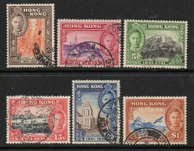 Hong Kong 1941 Centenary Of British Occupation Set Sg163-8 Good Used