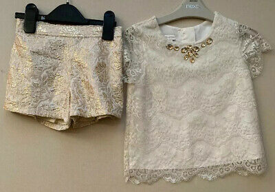 Monsoon Girls Party Top And Shorts Aged 6 Years