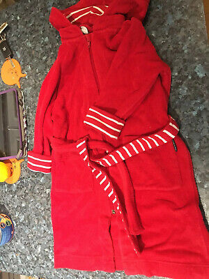 Polarn O Pyret - Age 2 - 4 Years - Red Zip Fastening Dressing Gown