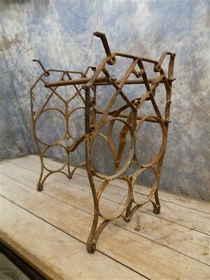 Treadle Sewing Machine Cast Iron Base Industrial Age Table Singer Steampunk nk