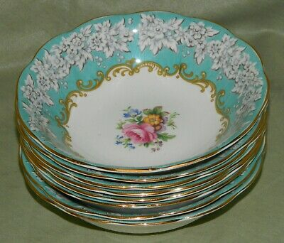 Vintage Royal Albert Bone China England ENCHANTMENT Lot of 8 Soup/Cereal Bowls
