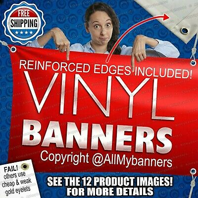 3' x 6' Custom Personalized Full Color Banner Sign prc
