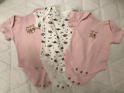 3 x M&S Baby Vests Up To 1 Month
