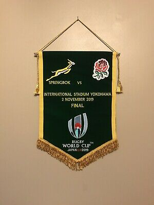 South Africa v England Rugby World Cup Final Japan 2019 Match Pennant