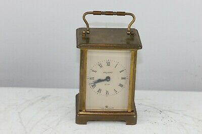 Antique French Duverdrey & Bloquel Bayard 8-Day Brass Carriage Clock - Excellent
