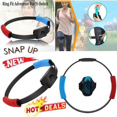 US For NS Joycon Switch Fitness Ring Adjustable Elastic Leg Strap Sport Band bn5