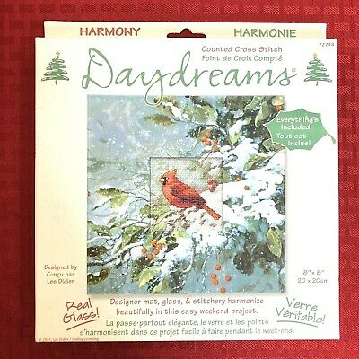 Counted Cross Stitch Kit Bird Ice Cardinal D70-35292 Dimensions