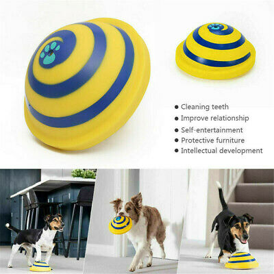 Dog Pet Toy Sounding Disc Woof Glider Safe Soft Indoor Play Toy For Dog Training