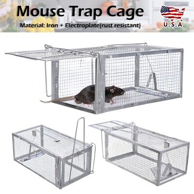 Rodent Pest Mouse Humane Live Trap Cage Hamster Mice Rat Control Bait Catcher US