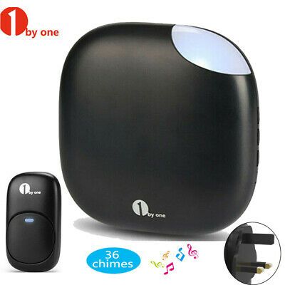 1byone 36 Chime Wireless Doorbell Remote Plug-in Receiver Door bell Range 150M