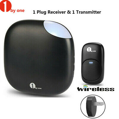 1byone Chime Wireless Doorbell Plug-in Receiver Security Sensor Door bell Range