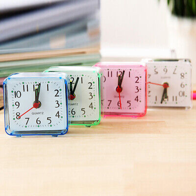 Practical Student /Work Home Compact Travel Quartz Beep Alarm Clock Cute Portabl