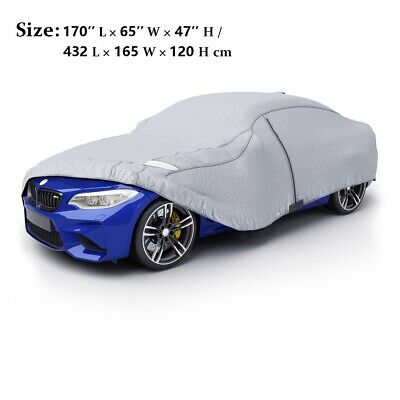 Outdoor Waterproof Full Car Cover 3 Layer Universal UV Rain Protection M Size UK