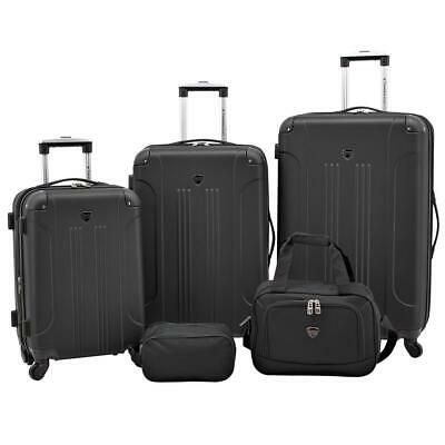 Travelers Club Chicago Plus Carry-On Luggage and Accessories Set With Tote and T