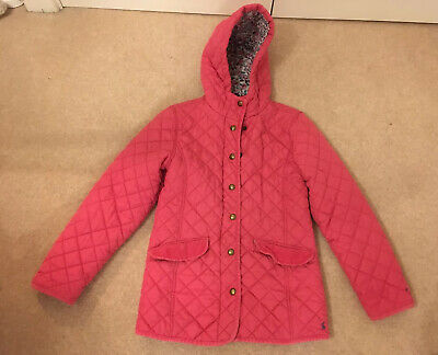 JOULES MARCOTTE  Pink Quilted Jacket School Coat Age 11-12 Yrs