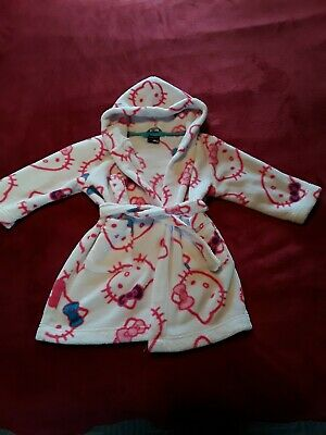 Hello Kitty Girls Dressing Gown by George,  3-4 years