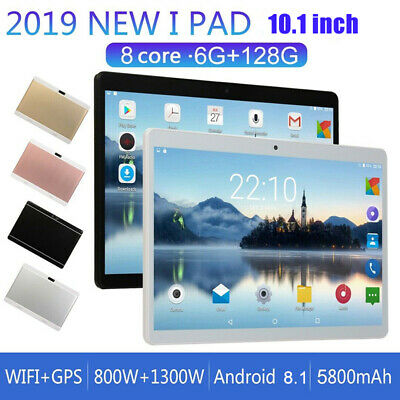 "10.1"" Tablet PC Android 8.1 6 128GB 10 Core bluetooth WIFI Dual SIM Cam GPS"