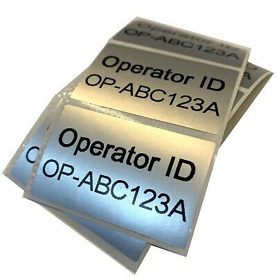 Drone or Aircraft Operator ID Silver Stickers CAA UK Regulatory Labels 4cm FIVE