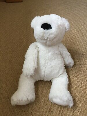 The Little White Company White Cuddly Teddy Bear Brill Cond
