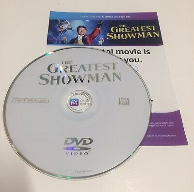 The Greatest Showman (DVD Disc ONLY with Digital Code, 2018)