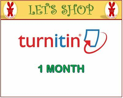 Turnitin Student Account Unlimited Word (1 MONTH)- Plagiarism Checker ONLY
