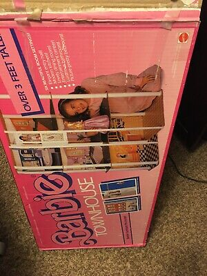 Barbie Vintage Townhouse Doll House 3.5 Feet High 1977 with Box Furniture