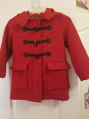 Gap girls Red Coat With Hoddie size Small