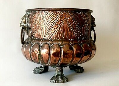 Arts & Crafts Antique Copper Jardiniere William Soutter & Sons c.1890/1910s