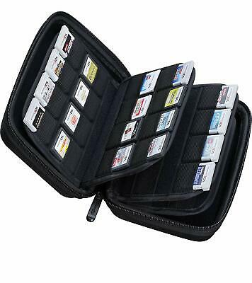 64 Game Card Storage Holder Hard Case for Nintendo 3DS, 2DS and DS Games - Black