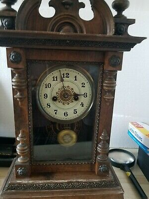 Antique Western Union Clock Company  Chiming Clock