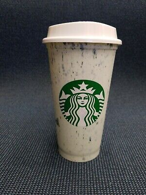 Starbucks hot cup reusable cup marbled light green cold cup new
