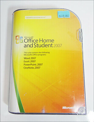 Microsoft Office Home and Student 2007 GENUINE 79G-00007 with Product Key