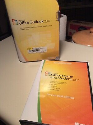 Microsoft Office Home and Student +Outlook 2007 Word Excel PowerPoint OneNote