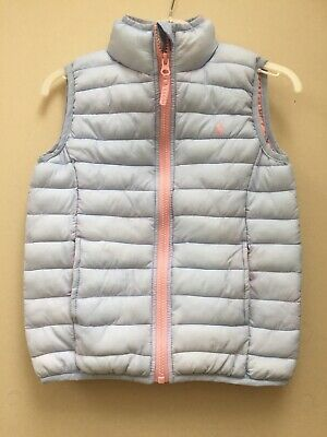 Joules Girls Pale Blue Pack Away Croft Gilet Aged 5 Years
