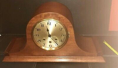 Large Napoleon Hat Westminster Mantle Clock - working.needs glass and key