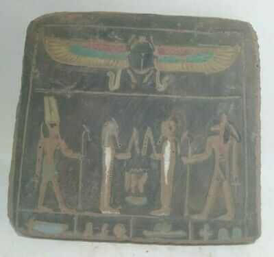 RARE ANCIENT EGYPTIAN ANTIQUE Religious Festival Stella Antique 1453-1247 BC