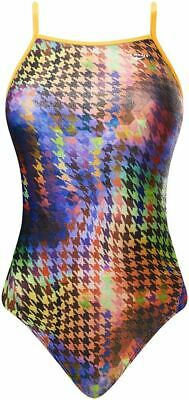 The Finals Girls 'Funnies'  Houndstooth Foil Swimming Costume