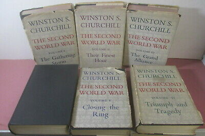 The Second World War by Winston S. Churchill, 6 volume set, 1st editions 1948-54