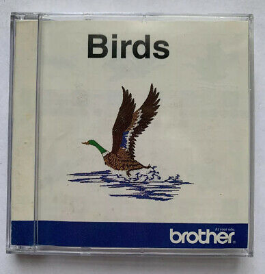 BIRDS Brother Embroidery Card for Brother, Bernina Decor Baby Lock