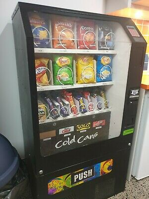 (Combo) Soft drink and snack vending machine.
