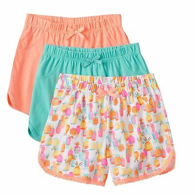 Shorts Pineapple & Solid Shorts Girls Pack of 3 Size 6 Freestyle Revolution