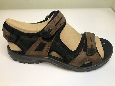 ECCO MEN'S SANDALS Hiking Yucatan Khaki & Green Leather EU