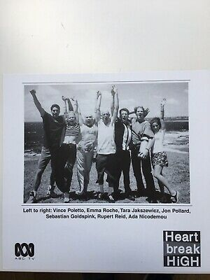 Tv Fan Card Heart Break High Cast Shot. Free Postage