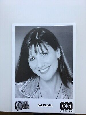 Tv Fan Card Gp Zoe Carides Free Postage