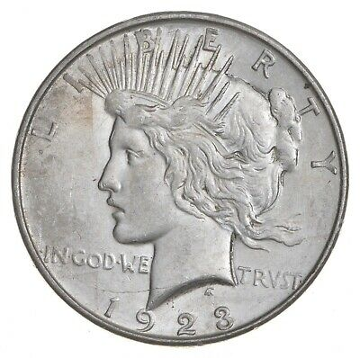 Early - 1923-D - Peace Silver Dollar - 90% US Coin *053