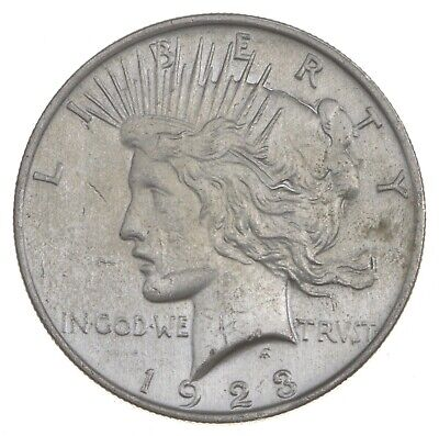 Early - 1923 - Peace Silver Dollar - 90% US Coin *013