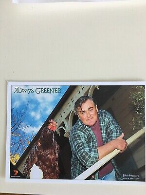 Tv Fan Card Always Greener. John Howard Free Postage