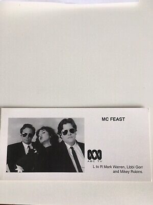 Tv Fan Card Abc Mc Feast Cast Shot Free Postage